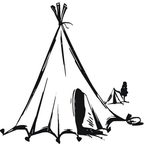 480x480 Nomads Tent coloring page Free Printable Coloring Pages