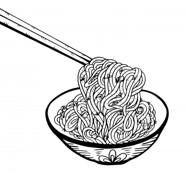 626x579 Doodle Noodle Hand Drawing Vector Premium Download