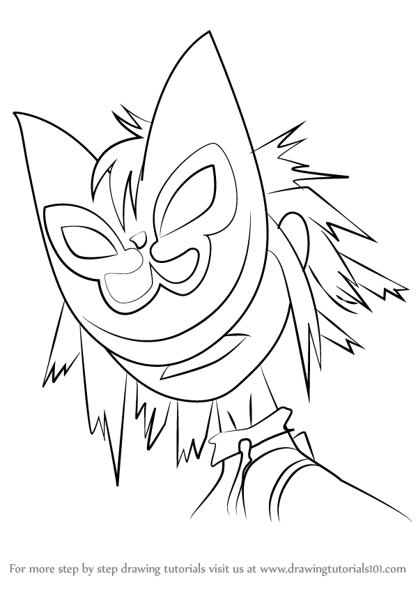600x846 Learn How To Draw Noodle From Gorillaz (Gorillaz) Step By Step