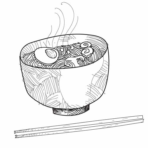 500x500 Noodle Illustration Vector Drawing Quality Vectors And Drawings.