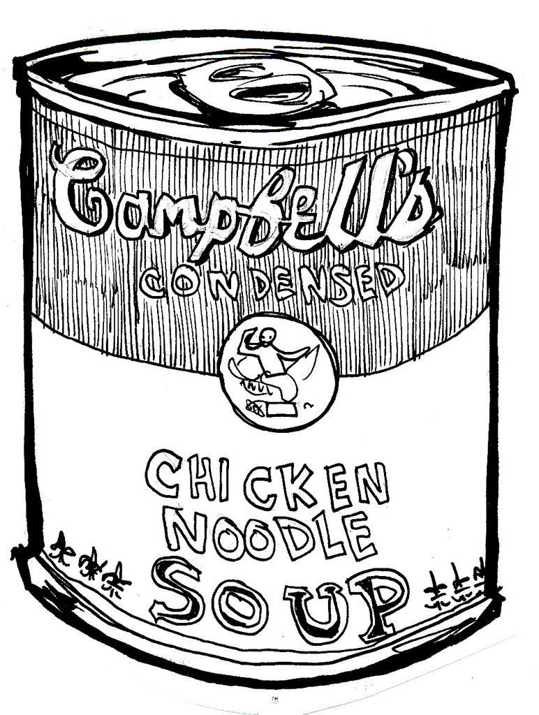 772x1024 Chicken Noodle Soup Channeling My Inner Warhol Hahaha