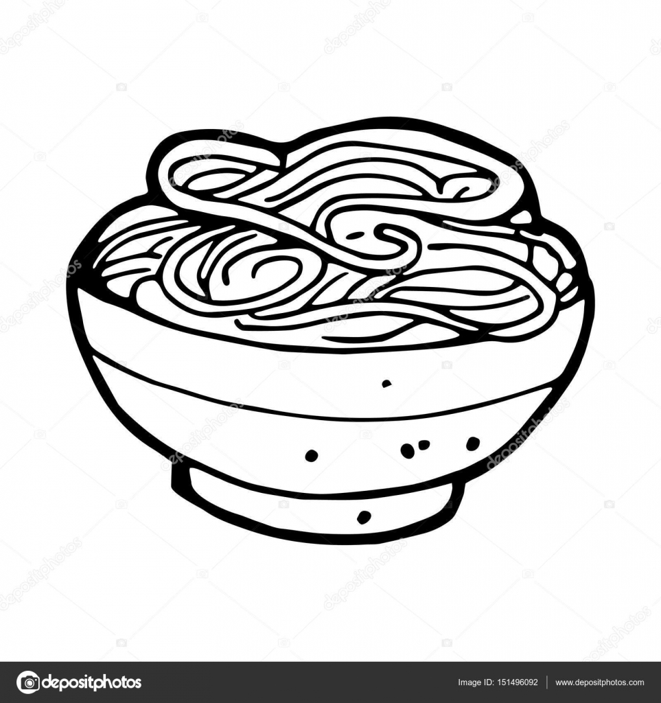 963x1024 Hand Drawn Noodle Stock Vector Everydaytemplate