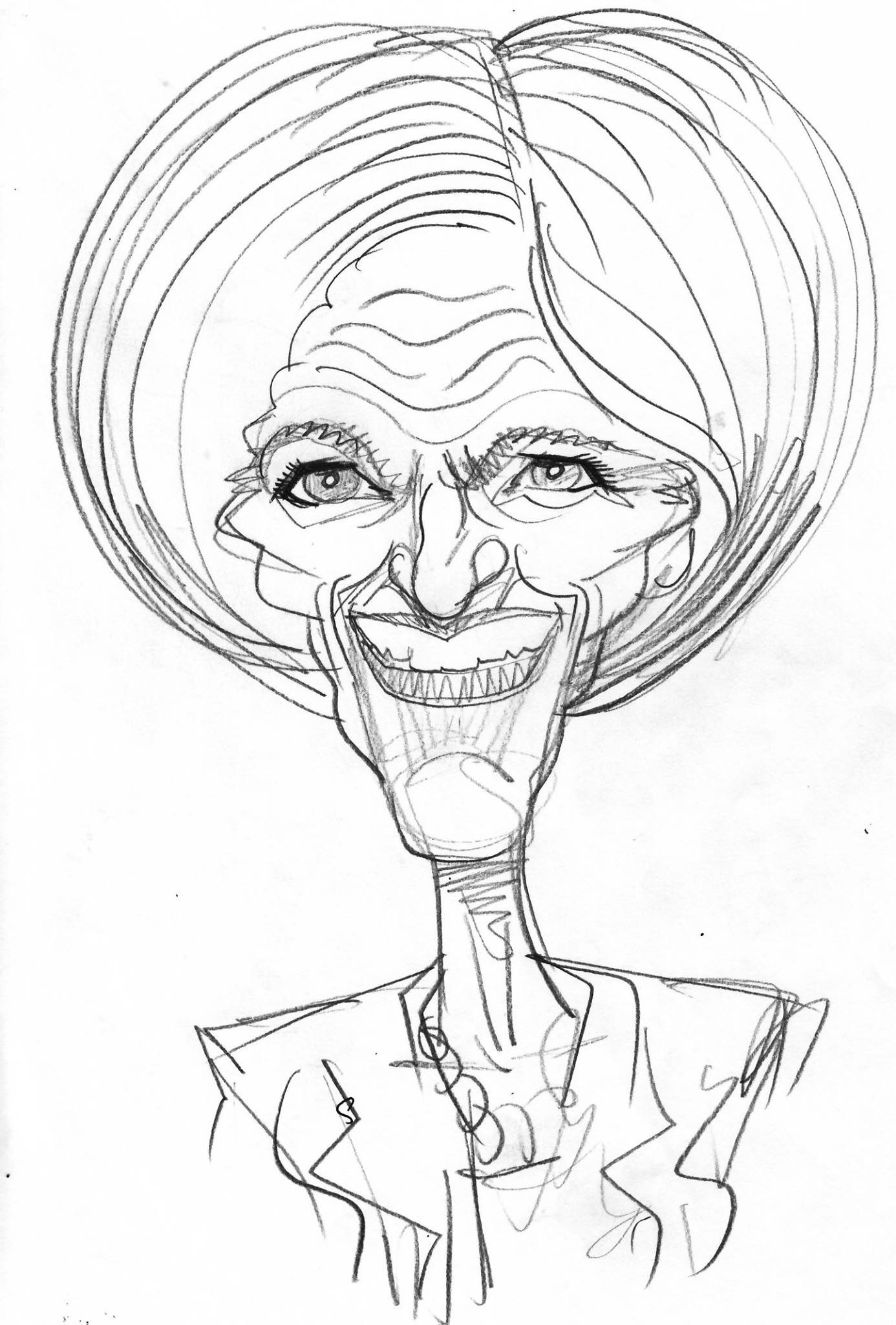 1386x2048 Pencil Sketch Caricatures Of Famous People, Celebrities And Politicans