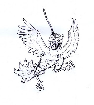357x400 I Have A Tattoo Of A Rooster On A Noose