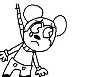 300x250 Mouse With A Noose Around His Neck