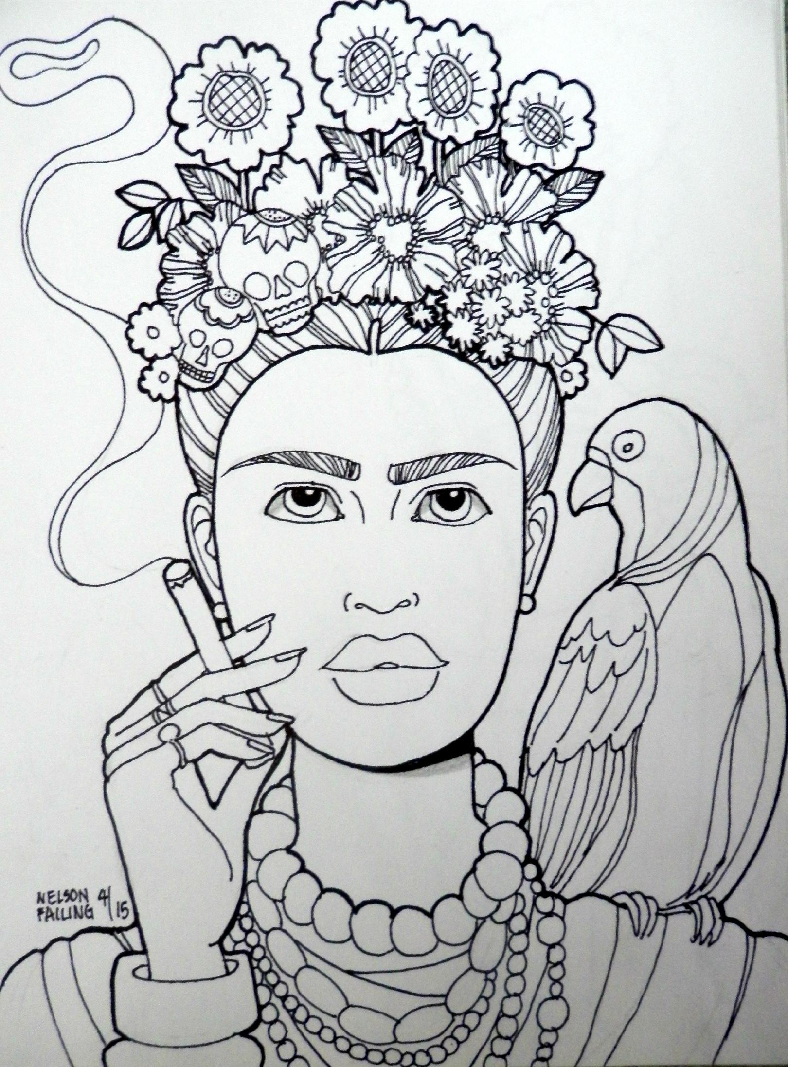 1620x2193 Frida Kahlo Nelson Failing The Art Colony Frida