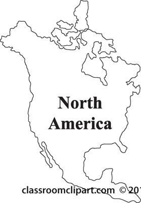 279x400 North America Clipart Black And White