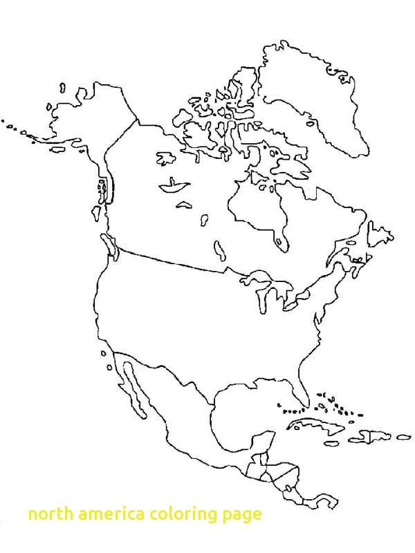 600x800 North America Coloring Page With North America Map In World Map