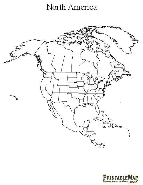 North America Map Drawing
