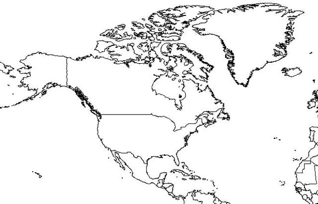 North America Map Drawing at GetDrawings.com | Free for personal use ...