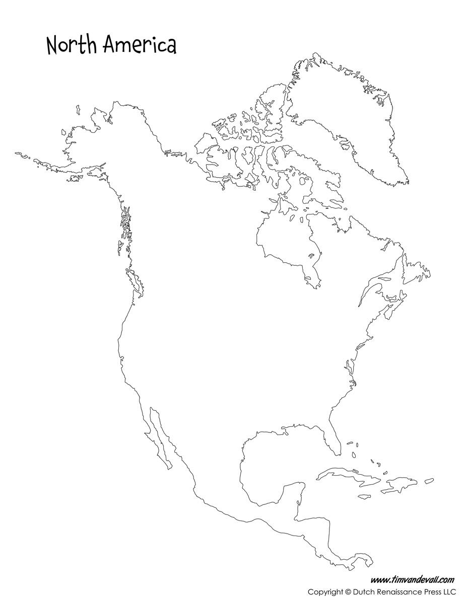 927x1200 North America Map