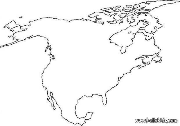 620x432 North America Coloring Pages
