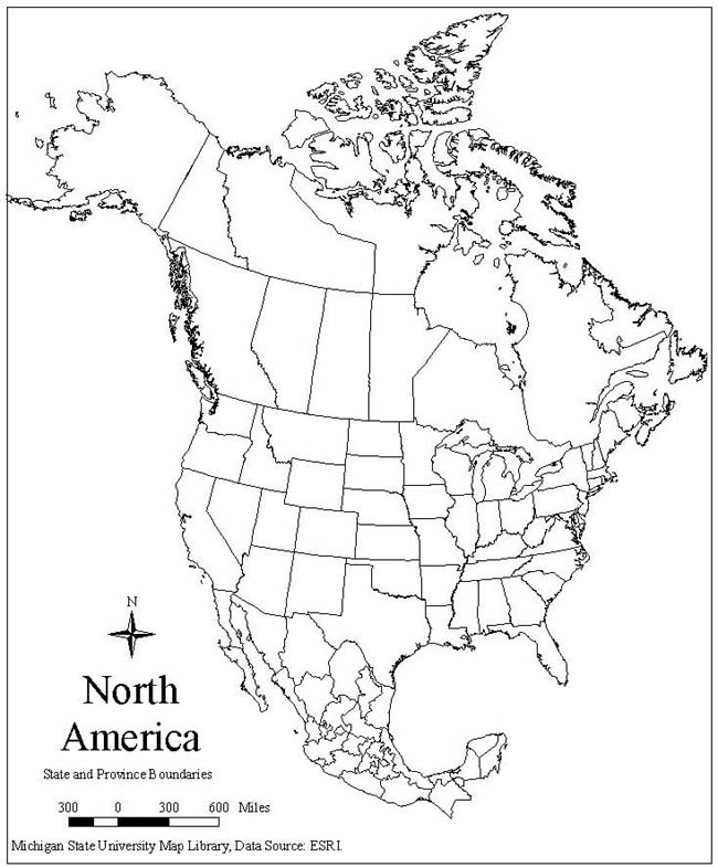 650x785 Best Photos Of North America Map Outline Printable