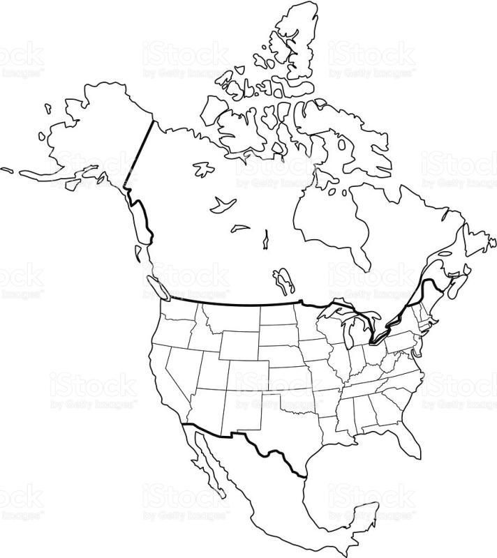 712x800 North America Map Clipart