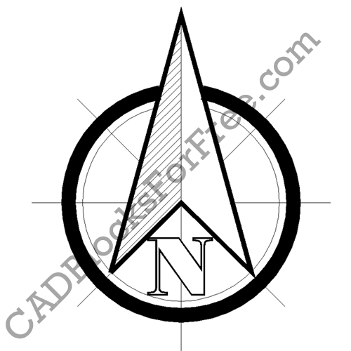 North Arrow Drawing at GetDrawings com | Free for personal