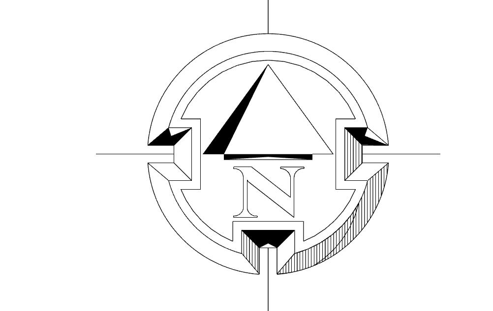 1002x633 North Arrow Symbol Round Dxf File Free Download
