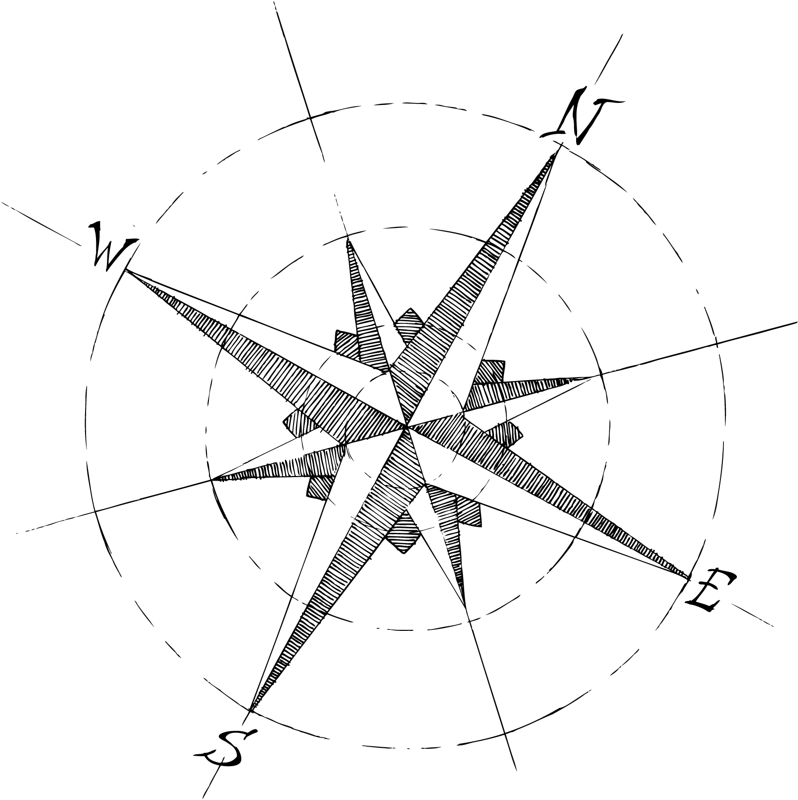 1604x1608 Rose Compass Drawing