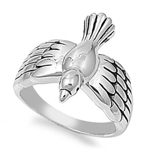 500x500 Brass Dove Ring, Christian Inspired With Jewelry Gift Box North