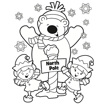 340x340 North Pole Coloring Page