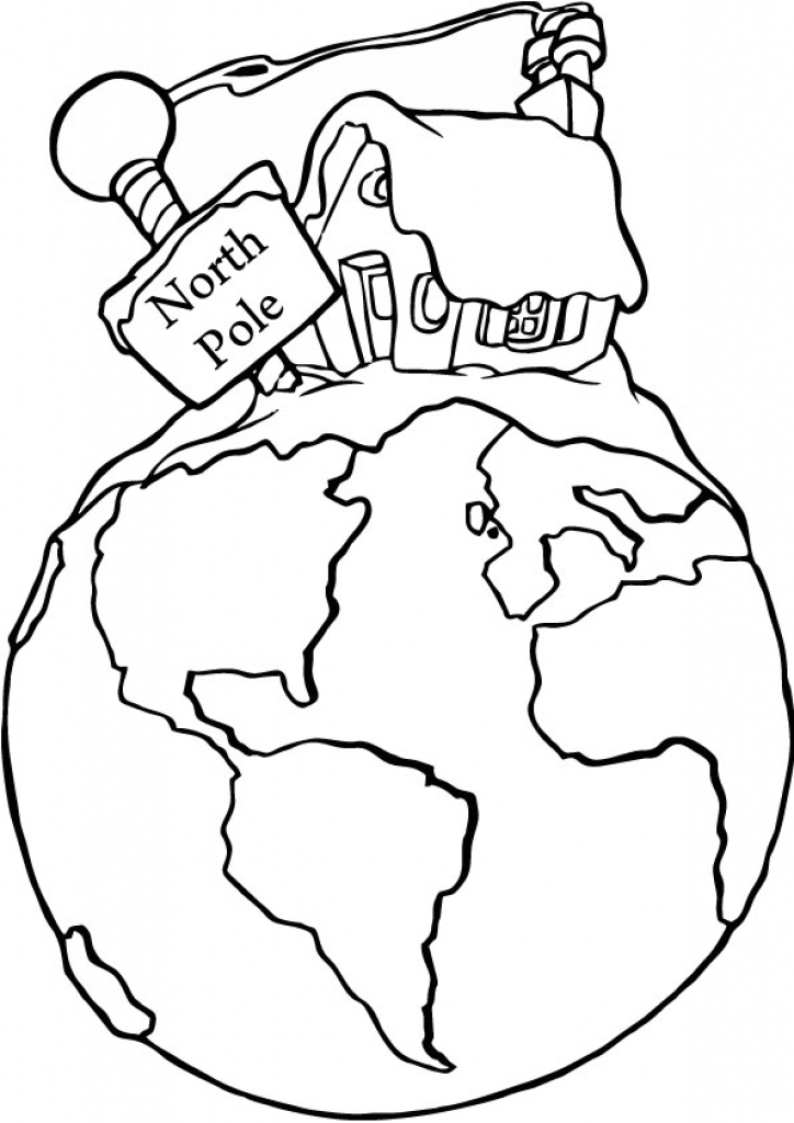 724x1024 North Pole Drawing Page With Regard To North Pole Coloring Page
