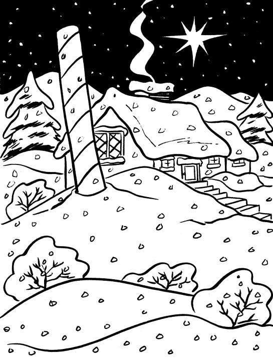 545x720 Printable Christmas Coloring Page North Pole