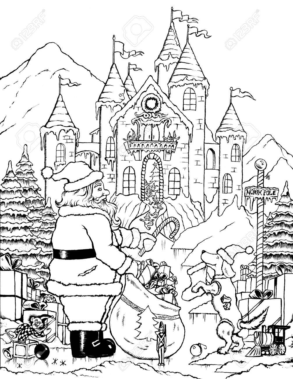 1006x1300 Santa Claus Getting Ready On Christmas Day In North Pole