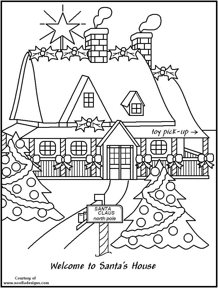 748x989 North Pole Printable Coloring Pages White House Coloring Page