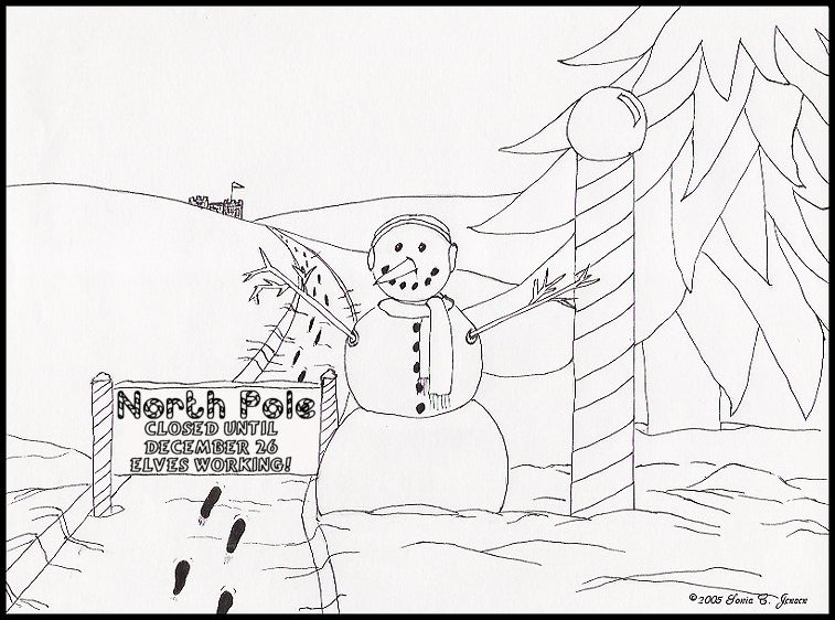 757x562 Christmas Coloring Pages For Cards