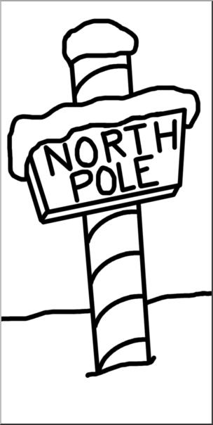 304x604 Clip Art North Pole Bampw I Abcteach