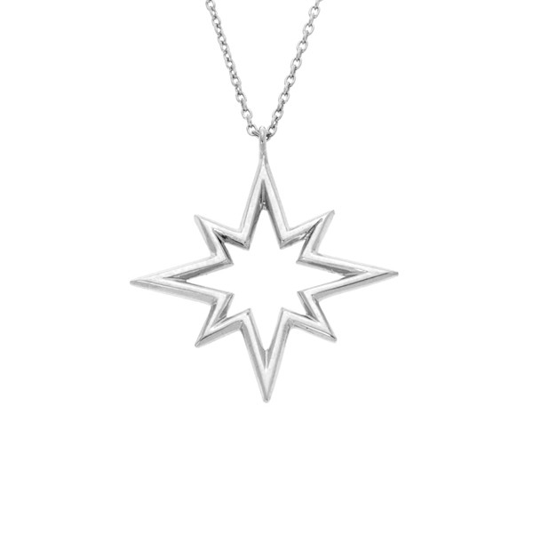 600x600 North Star Necklace Silver Pendant Jewelry V2