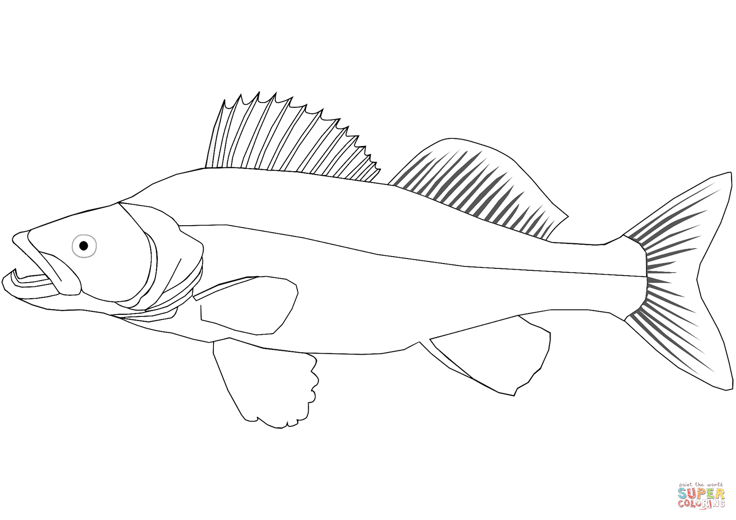 1500x1060 Walleye Coloring Page Free Printable Coloring Pages