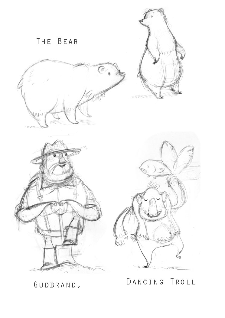 744x1052 Lisa Hunt Character Sketches For Mountain Tales Of Norway Book