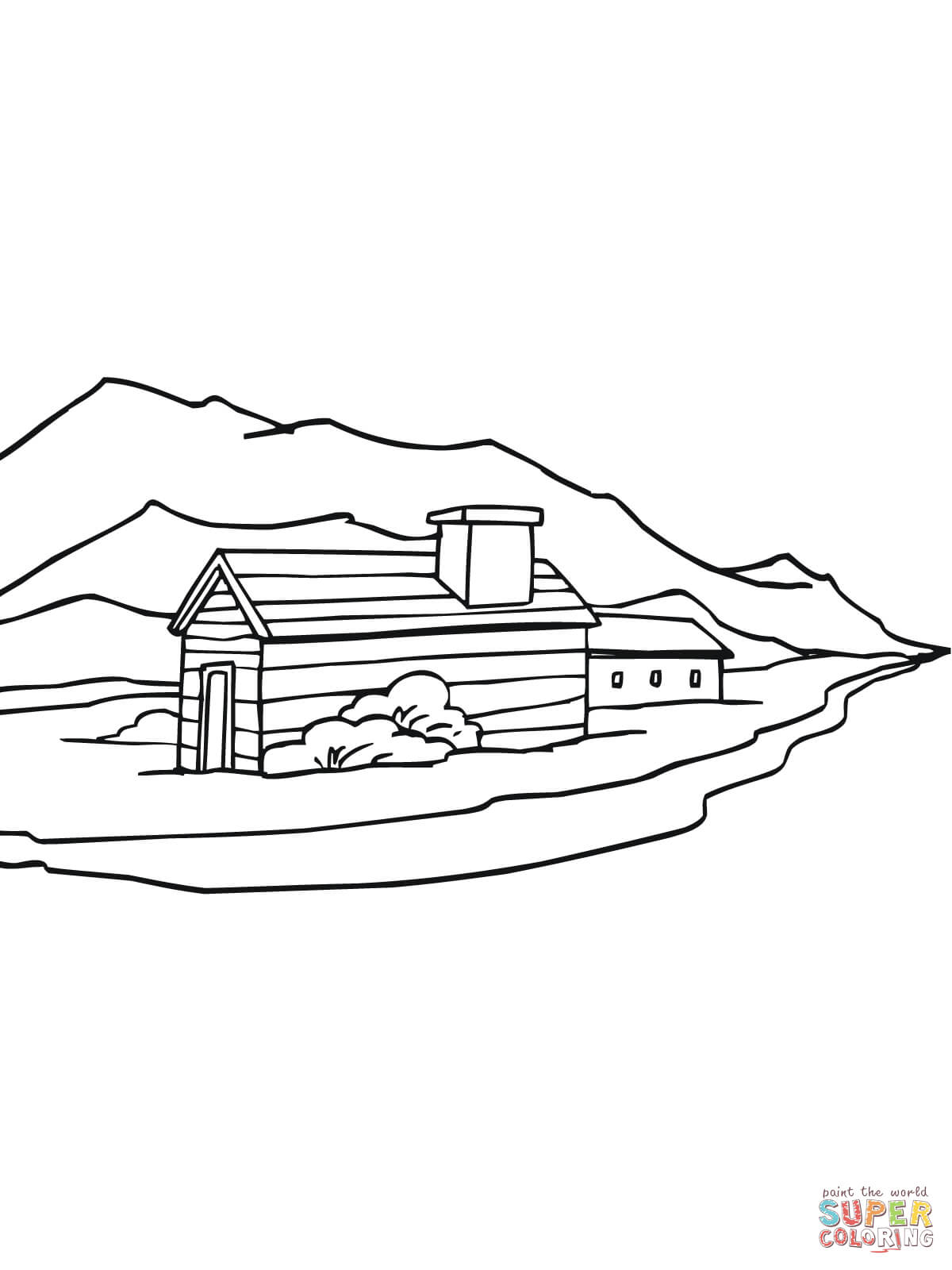 1200x1600 Norway Rural Landscape Coloring Page Free Printable Coloring Pages
