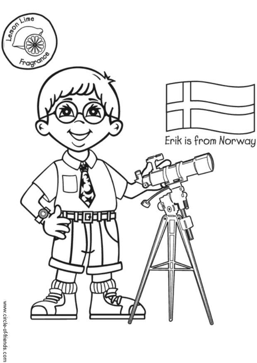 531x750 Coloring Page Erik From Norway