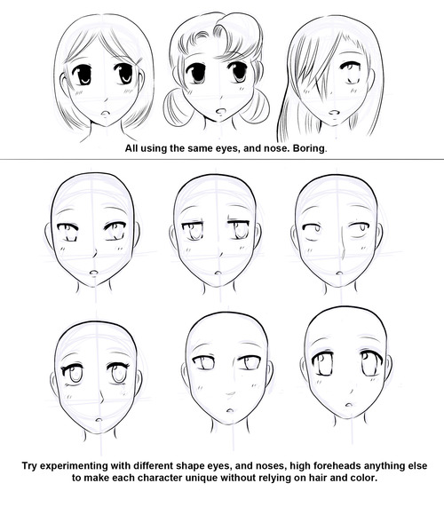 500x571 How To Draw Manga How To Draw Manga Faces