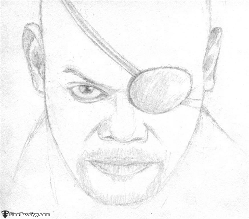 873x768 How To Draw Nick Fury, Samuel L. Jackson