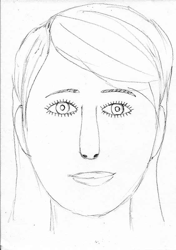 564x800 How To Draw A Face
