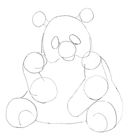 450x484 How To Draw A Panda
