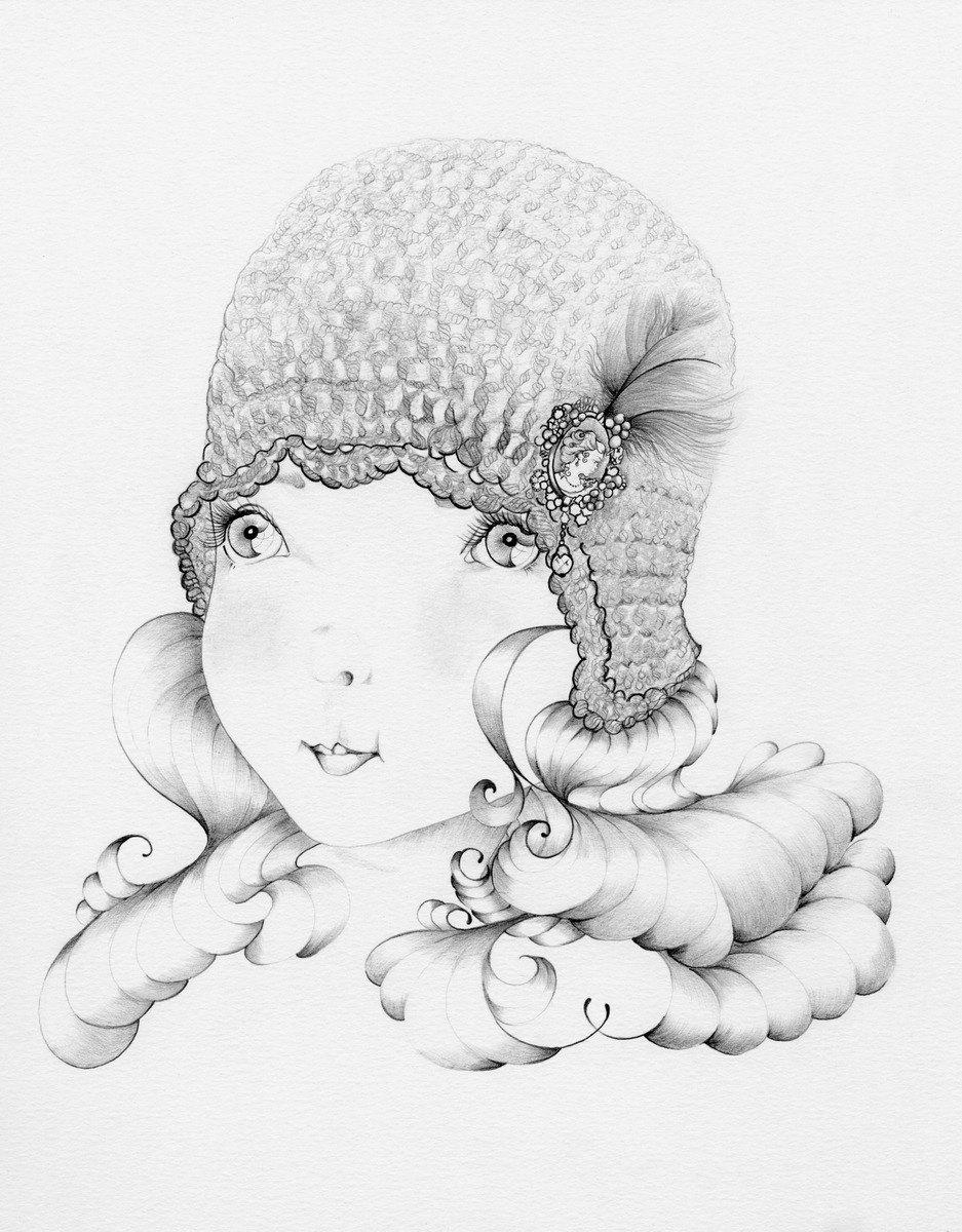 937x1200 Flapper Girl Ooak Pencil Drawing Amp Illustration Abitofwhimsyart