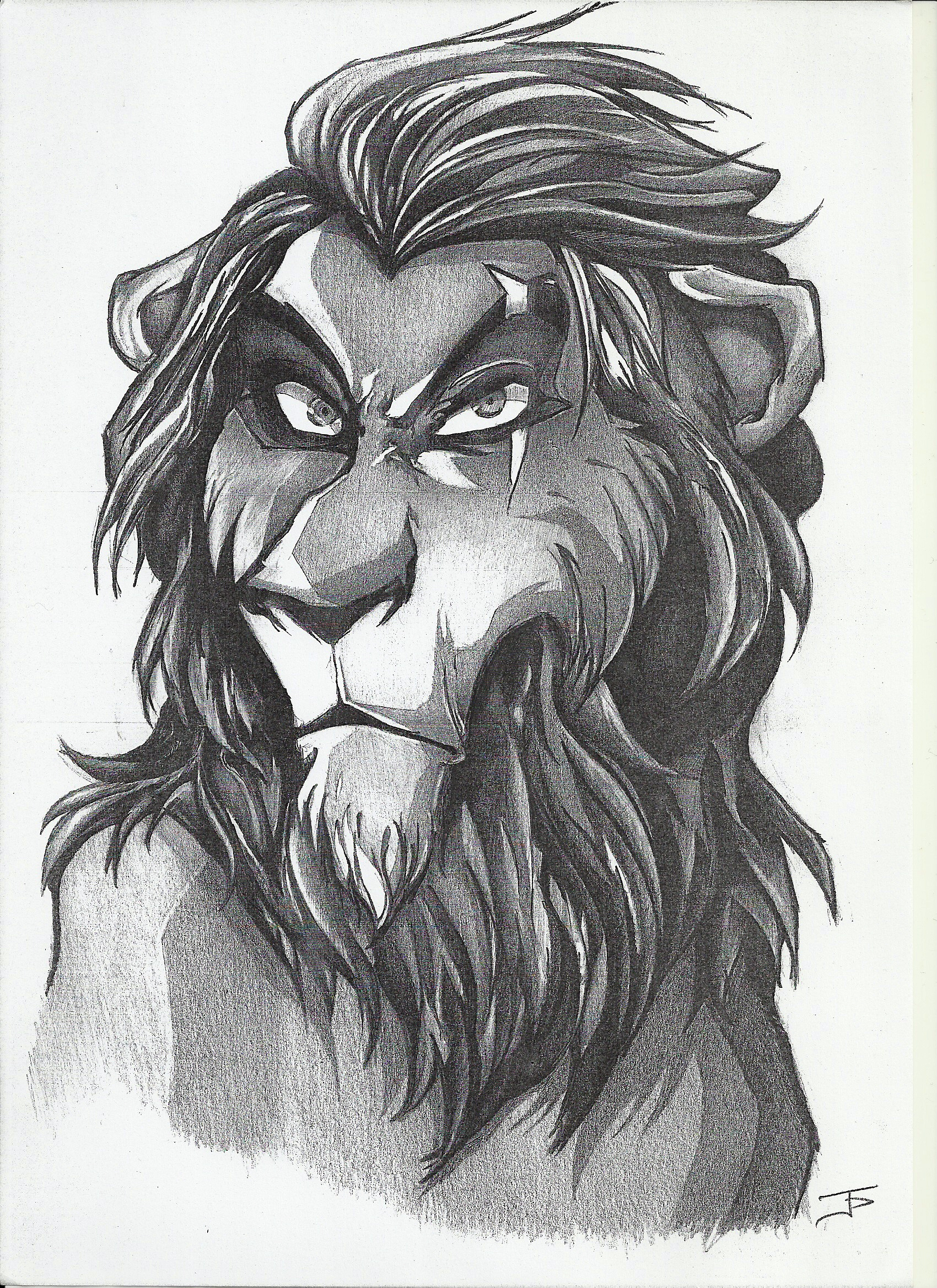 1700x2338 Scar Lion King by Ioannis Papadogeorgos