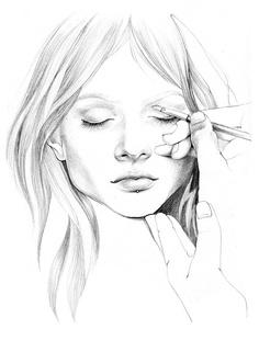 236x310 pencil sketch by Alina Grinpauka Sketchbook Girls Pinterest