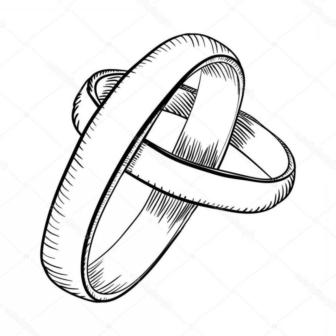 1164x1164 How To Draw Interlocking Wedding Rings How To Draw A Cartoon