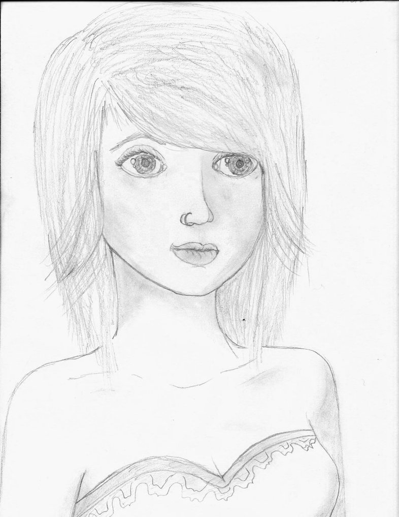 786x1017 Nose Ring Girl. by patterned cats on DeviantArt