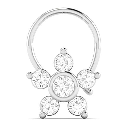 500x500 Vijisan Nose Pin Ring Collection 0.42ct.gold Plated 925 Sterling