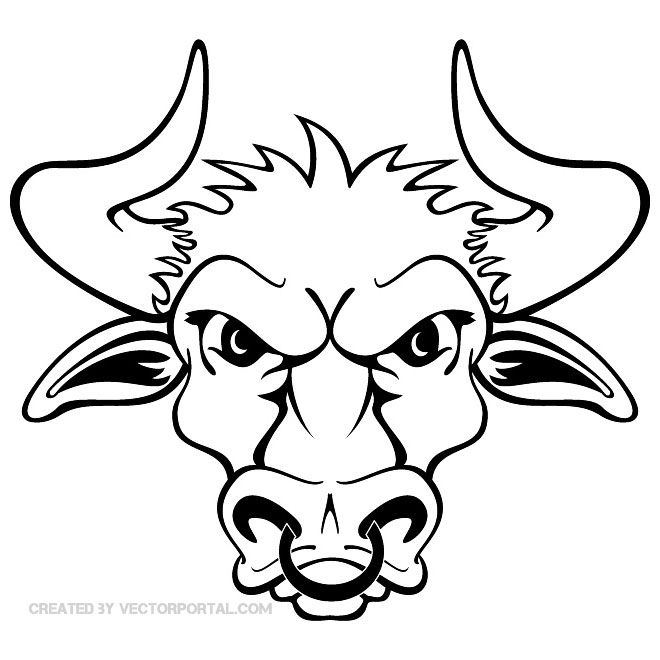 660x660 Angry Bull with Nosering Free Vector 123Freevectors