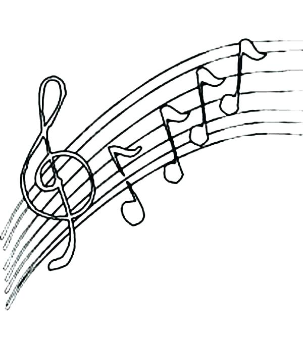 600x692 Music Notes Coloring Music Notes Drawing Coloring Page Music Notes