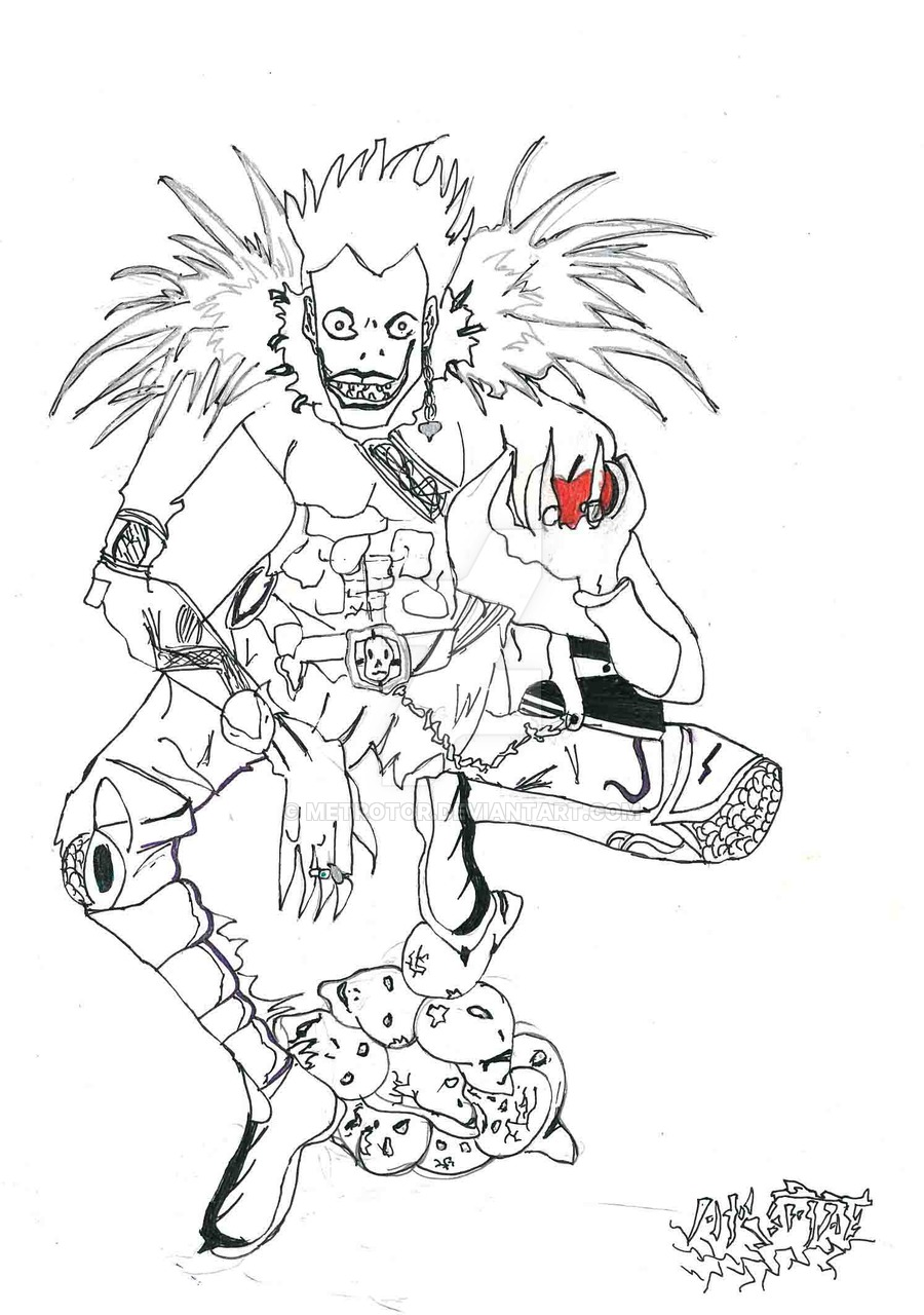 900x1280 Ryuk, From Death Note Sketch By Metrotor
