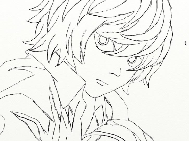 726x544 Death Note Sketch