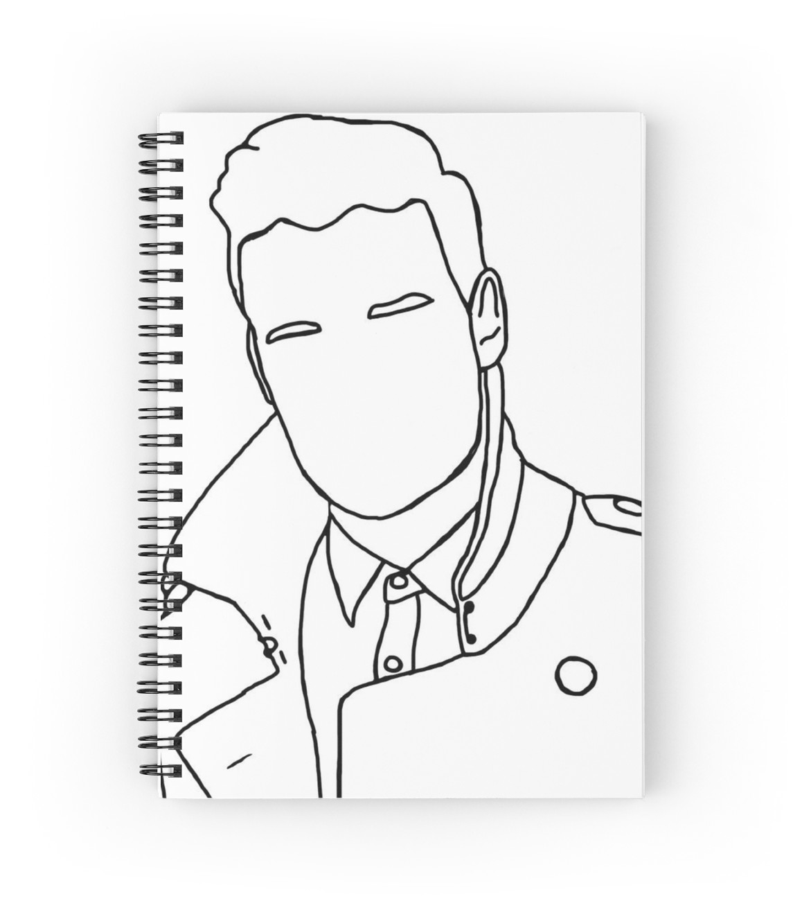 1171x1313 Liam Payne Outline Drawing Spiral Notebooks By Elizabethgoodin