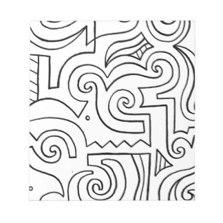 324x324 White Line Drawing Notepads Zazzle